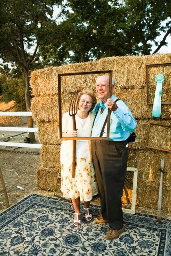 Country Style Wedding Venue Photobooth