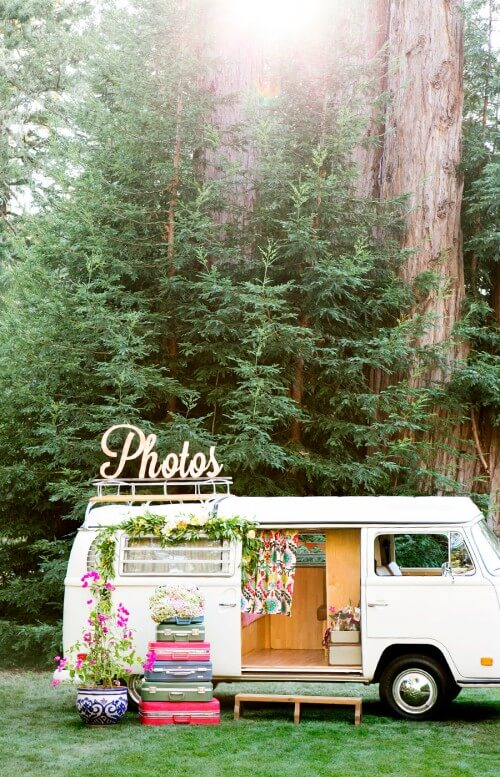 Vintage Wedding Venue Photobooth