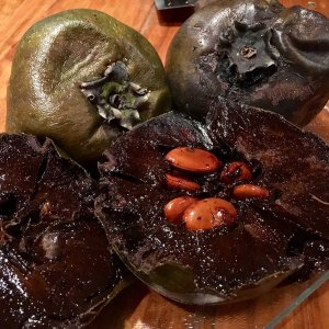 Open Black Sapote